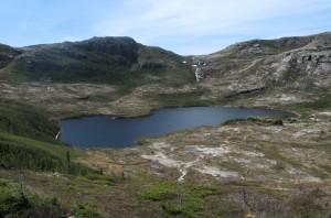 Pond above Francois