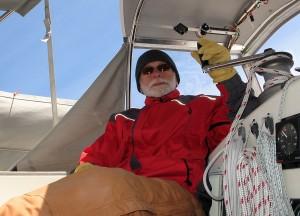 Carl in cockpit