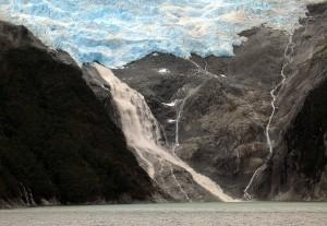 """One of the glaciers along """"Glacier Alley"""""""